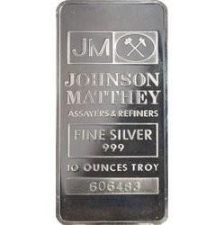 10 oz Pure .999 Silver Bar