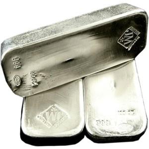 100 oz Pure .999 Silver Bar