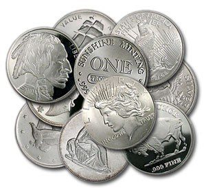 1oz Generic .999 Silver Ingots & Rounds