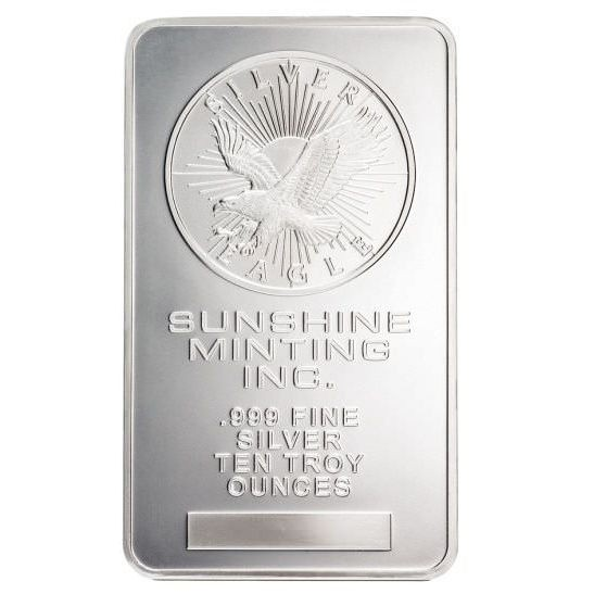 10 oz Pure .999 Silver Bar