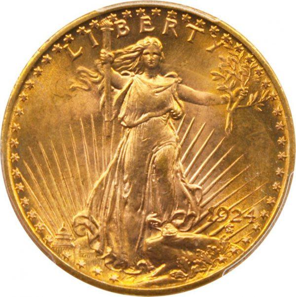 1924 $20 Saint-Gaudens Gold Double Eagle