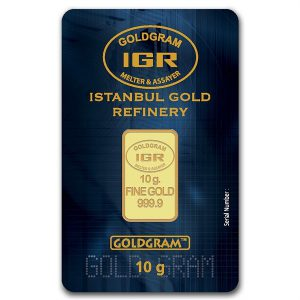 IGR 10 Gram .9999 Gold Bar with COA