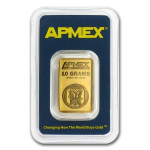 APMEX 10 Gram .999 Gold Bar with COA