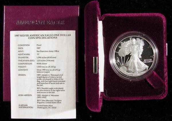 1987 Proof Silver Eagle US Mint