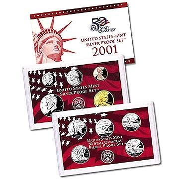 2001-S US Silver Proof Set