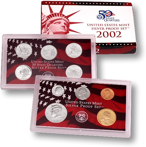 2002-S US Silver Proof Set