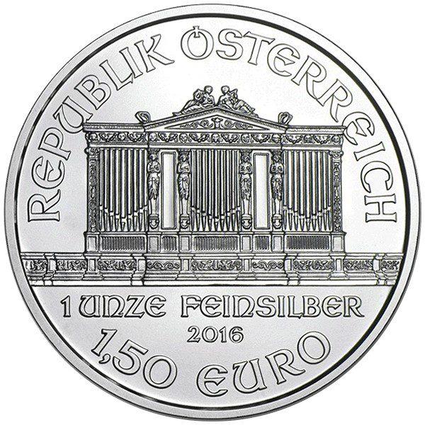 2016 1oz Silver Austria Philharmonic .999