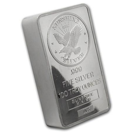 100oz Random Generic .999 Silver Bar