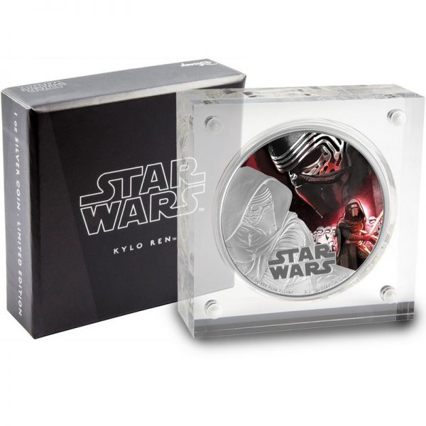 2016 1oz Star Wars™ The Force Awakens: Kylo Ren Silver Colorized Proof