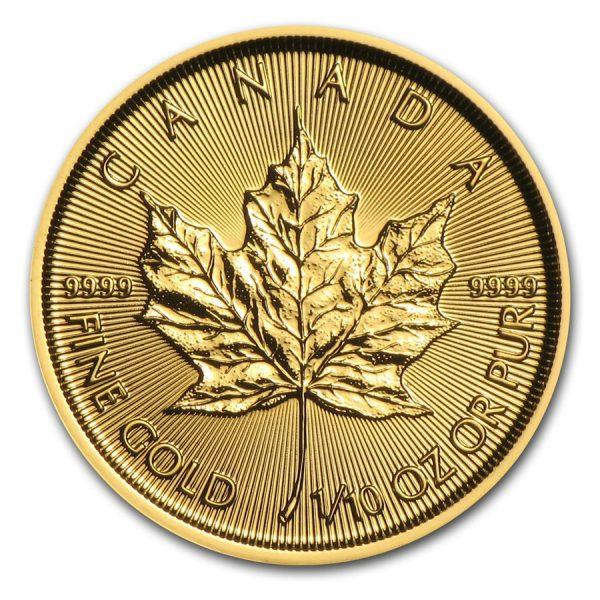 1/10oz Canadian Gold Maple Leaf .9999