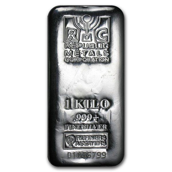 1 Kilo .999 Fine Silver Bar