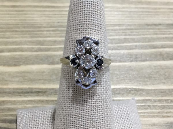 Diamond Sapphire Estate Ring